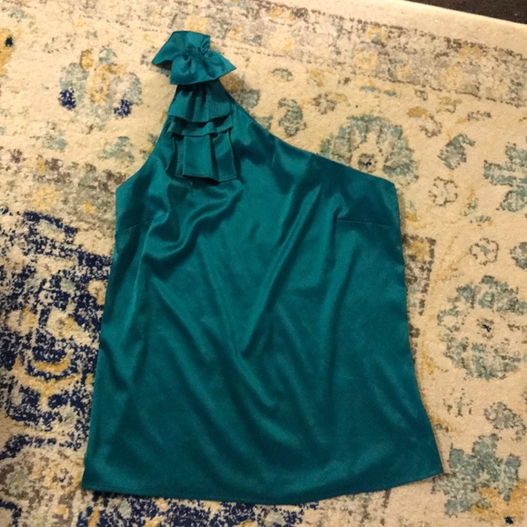 The Limited Tops - The Limited Emerald One Shoulder Top